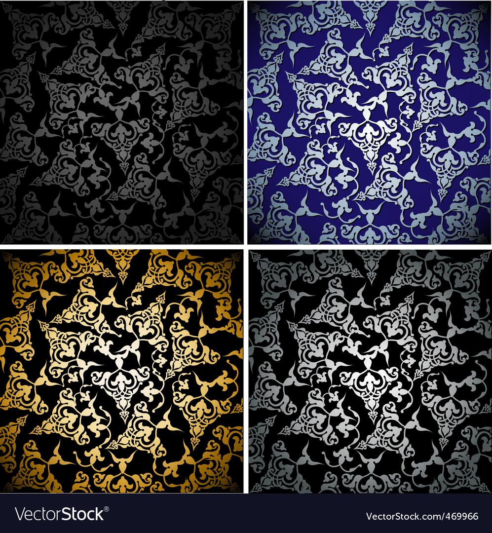 Seamless wallpaper pattern vector illustration