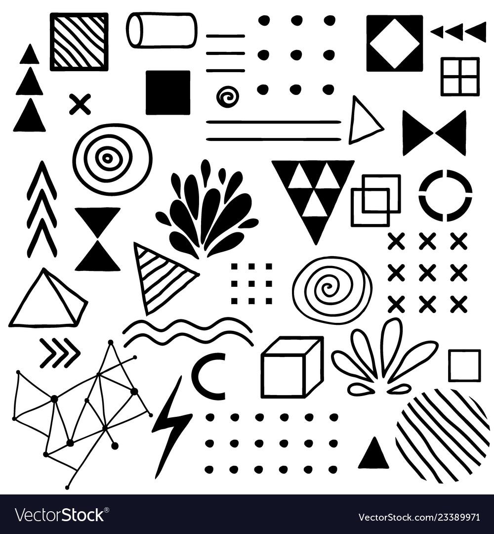Doodle design elements