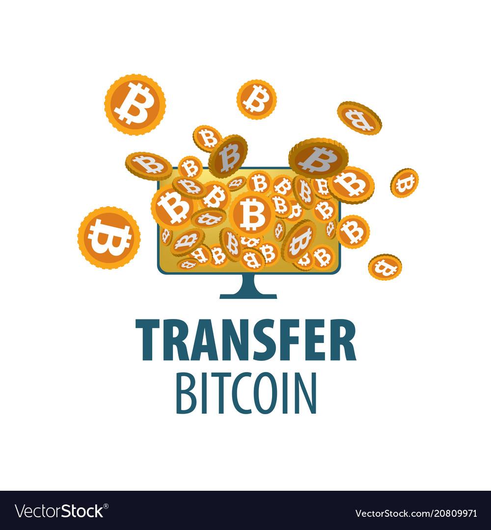 Logo bitcoin money transfer