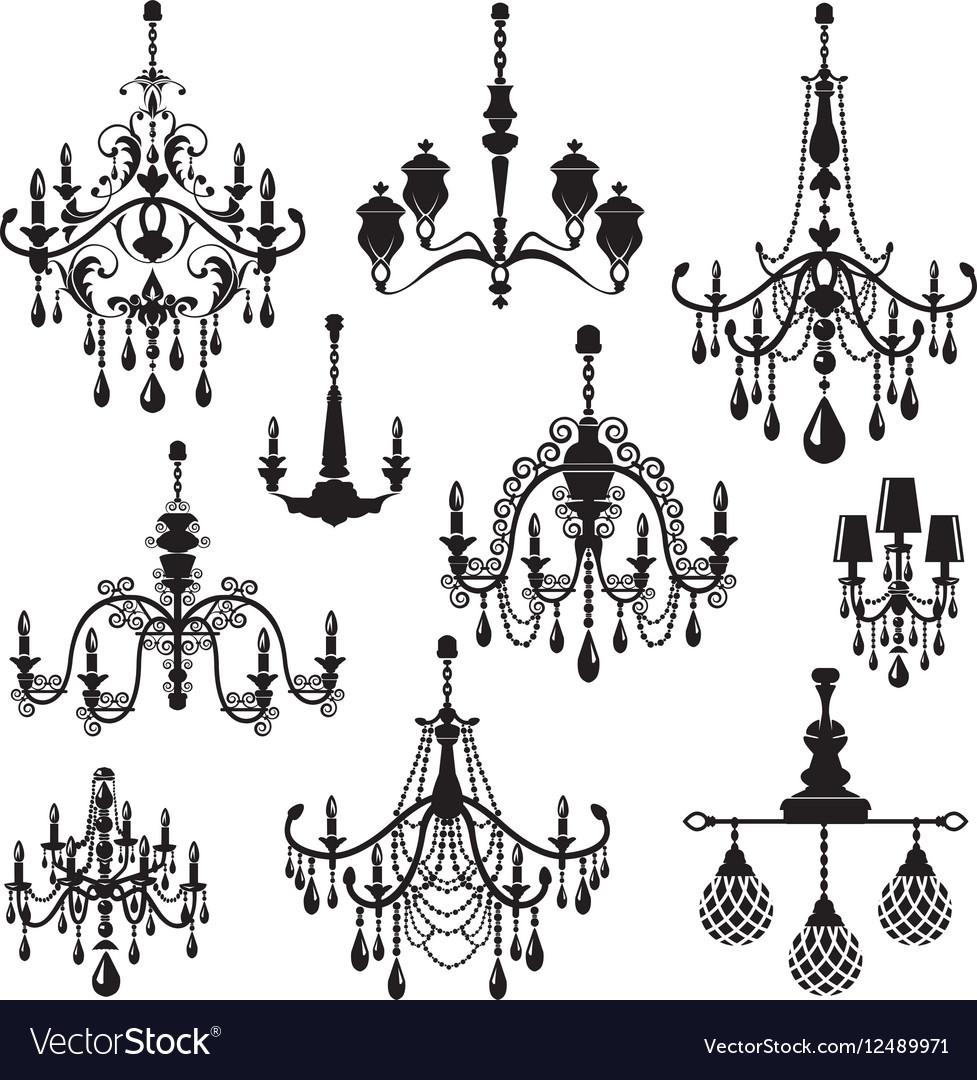 Set of Decorative elegant luxury vintage crystal