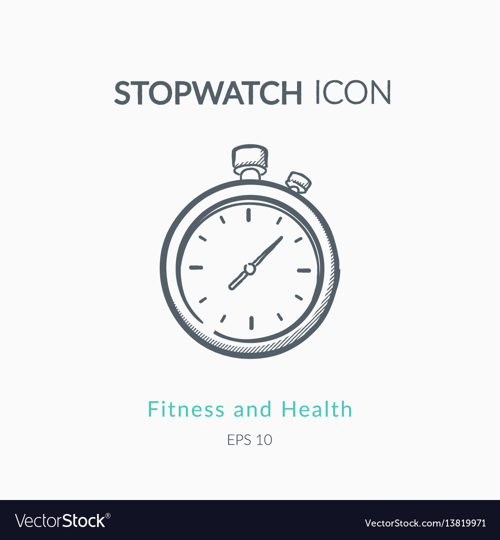 Stopwatch icon on white background vector image