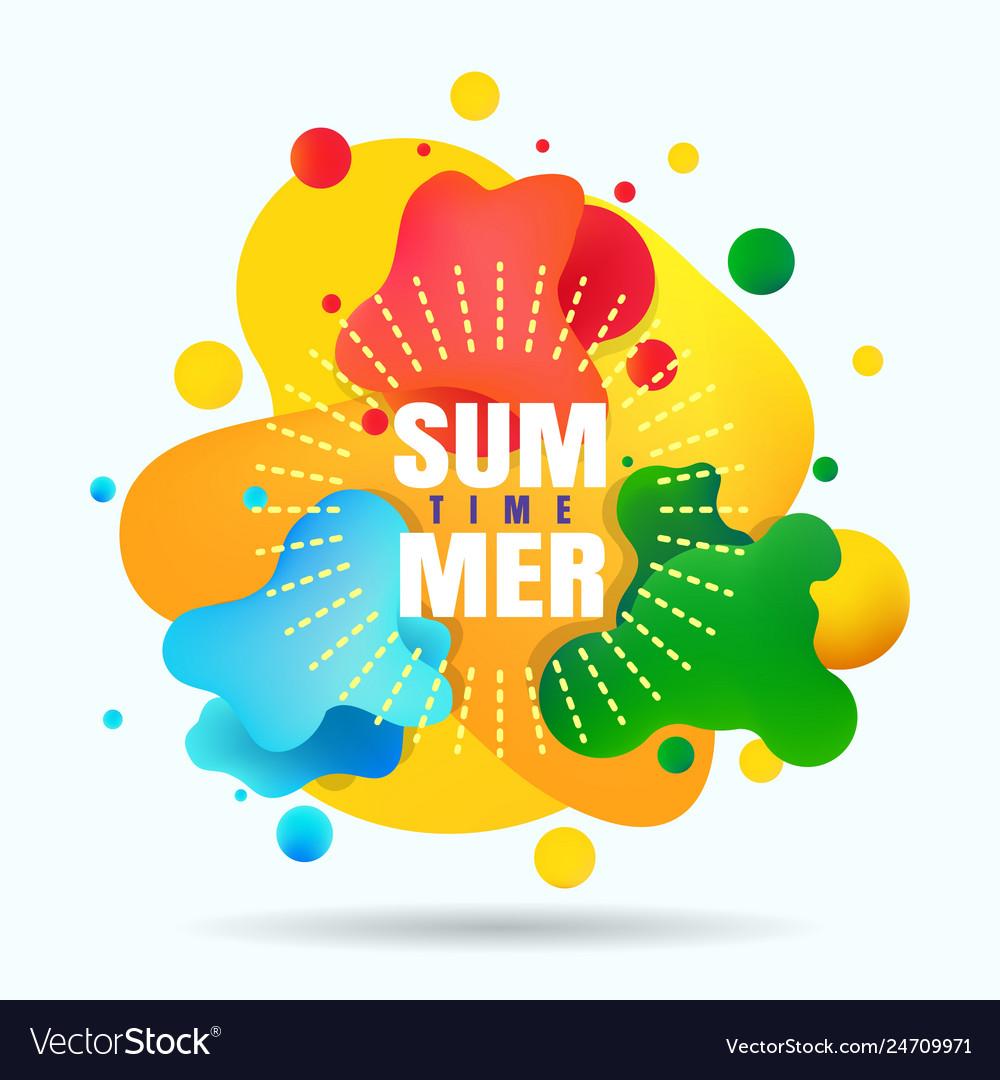 Summer organic gradients label