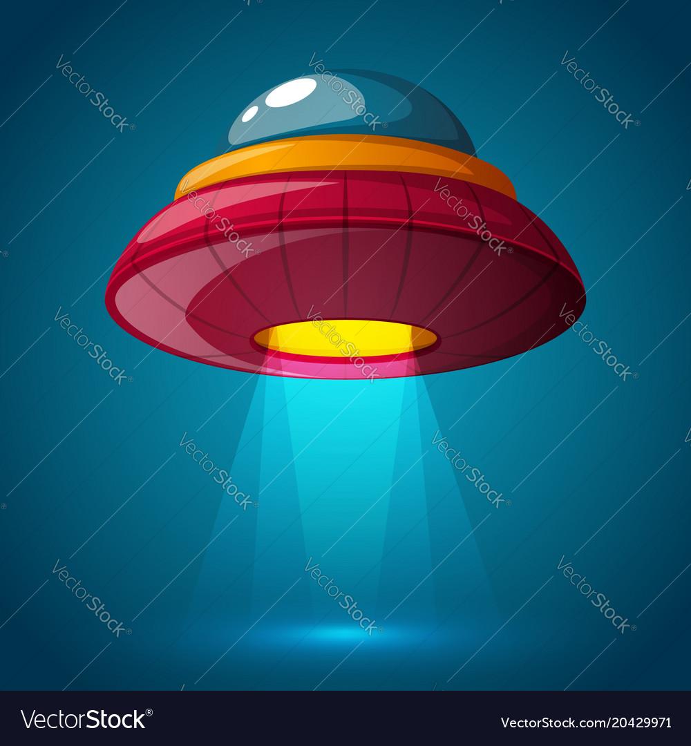Unidentified flying object - cartoon