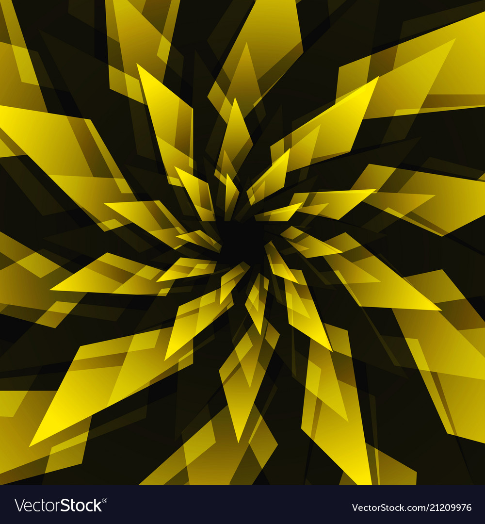 Black star and yellow abstract background