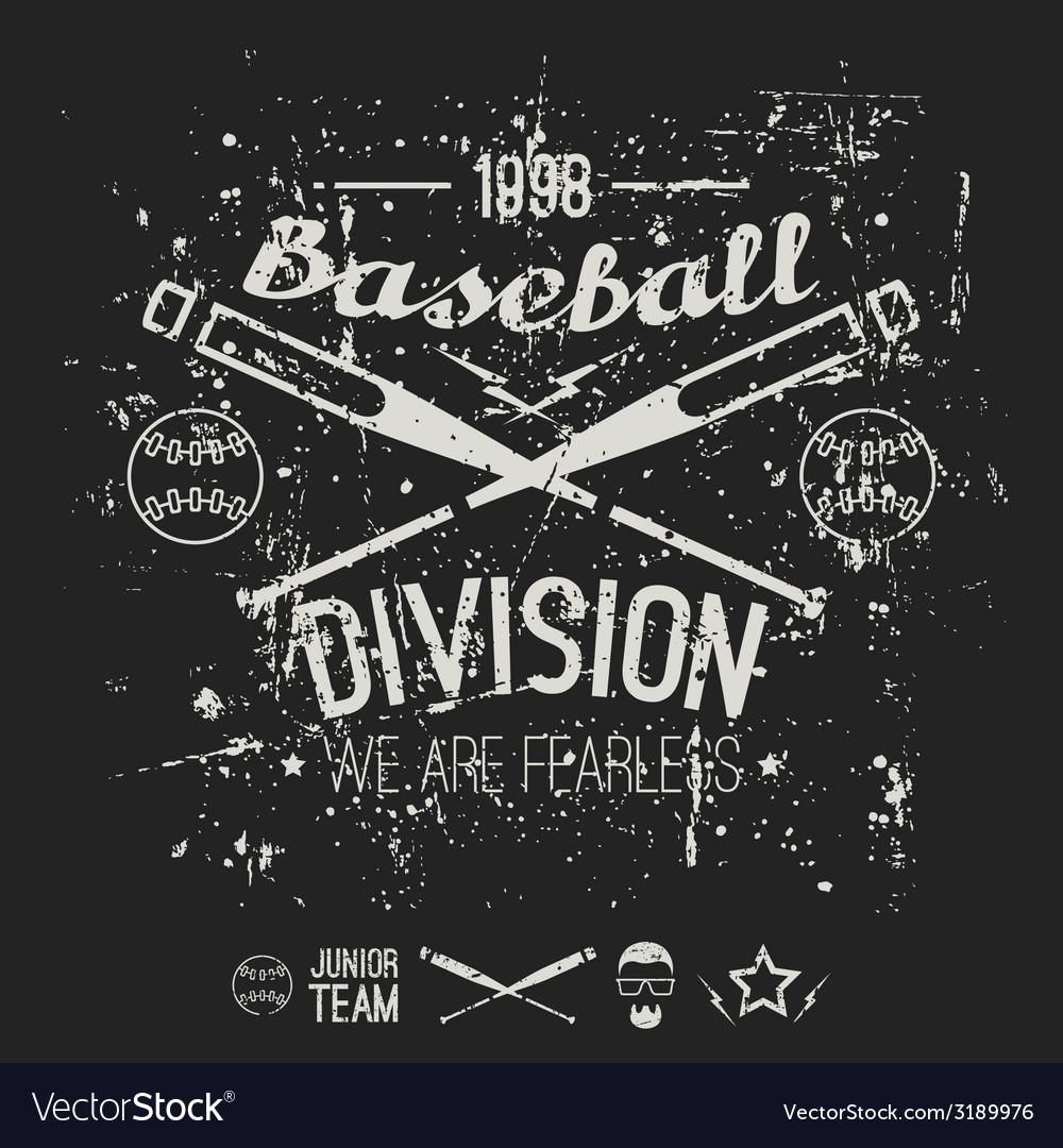 College baseball division emblem