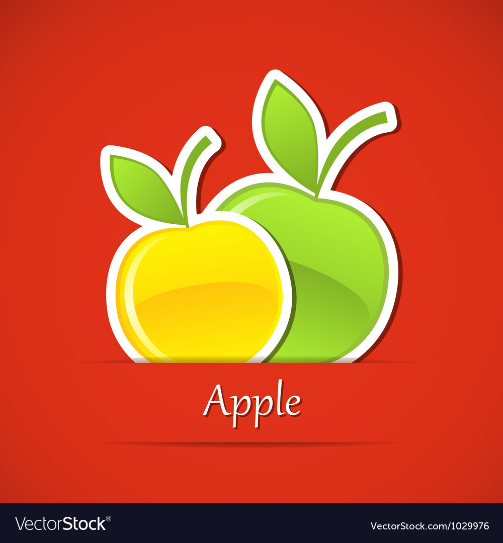 Food label Apple