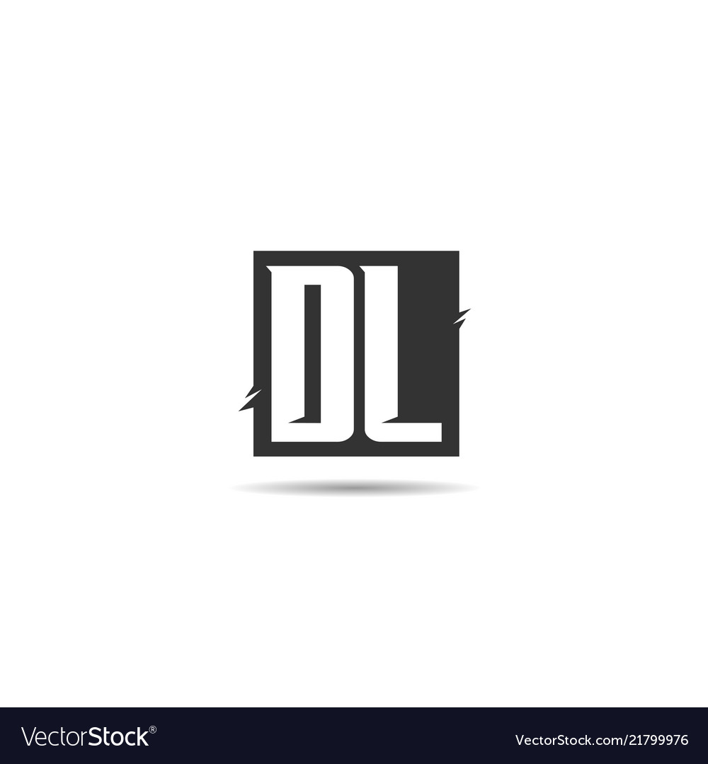 Initial letter dl logo template design Royalty Free Vector