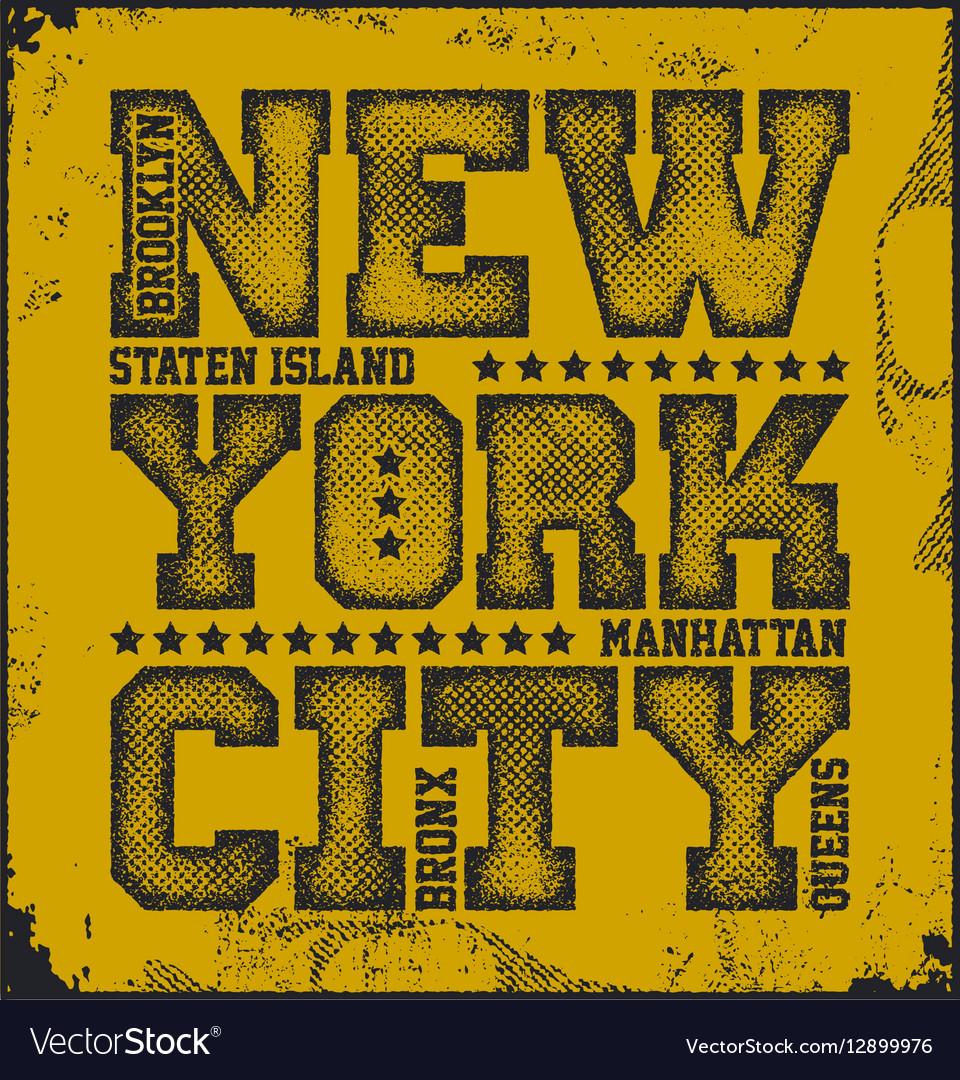 New York City Typography Graphics