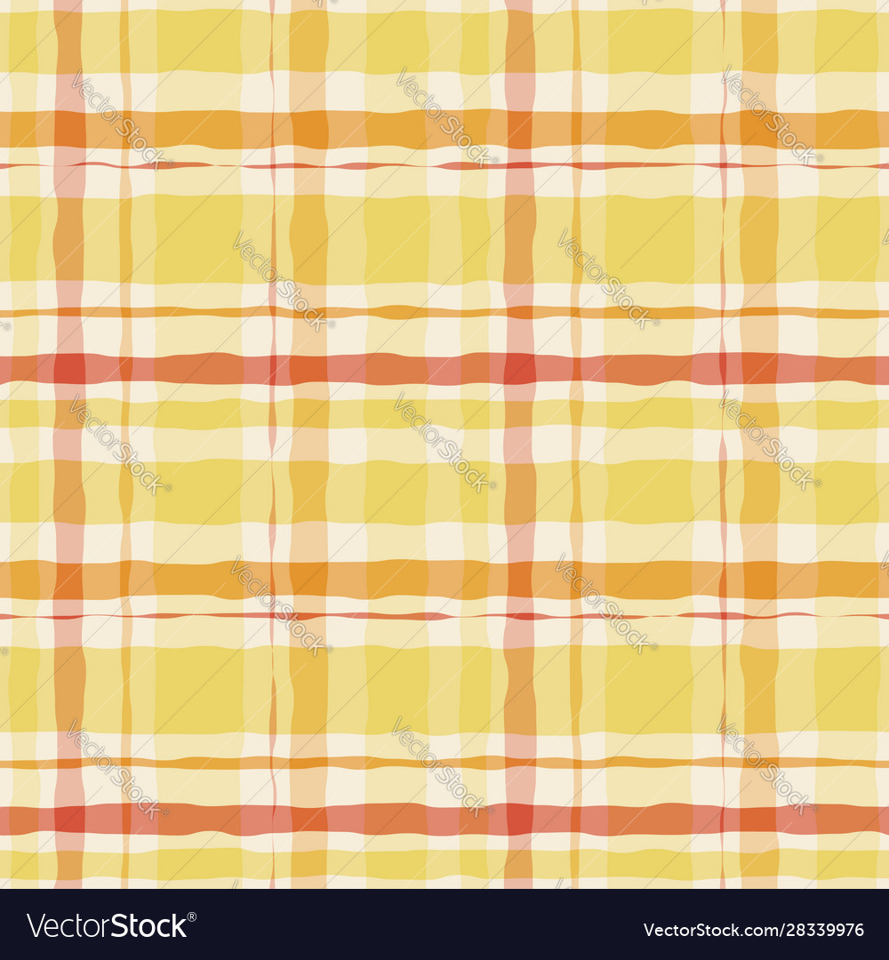 Yellow watercolor gingham plaid striped paint