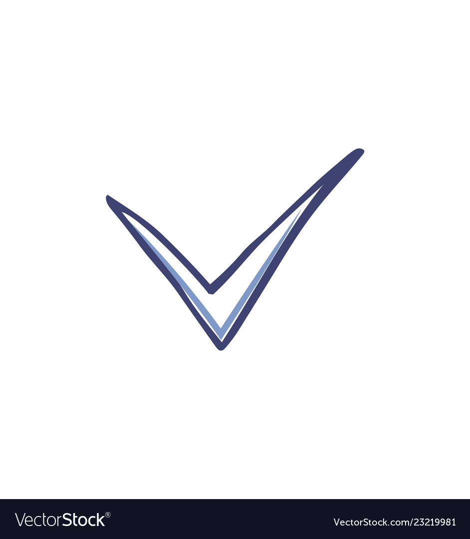 Check mark and tick used in voting icon