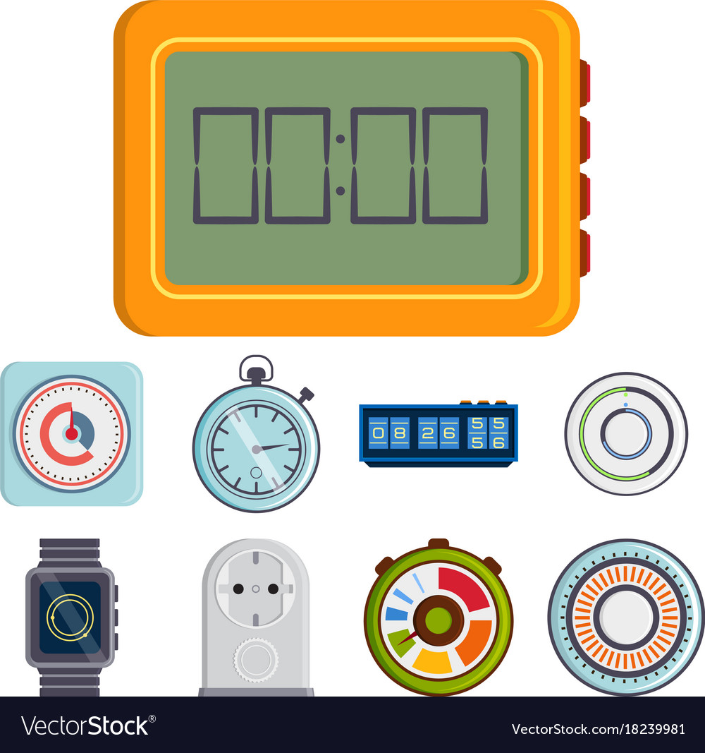 Clock and watches timer colorful