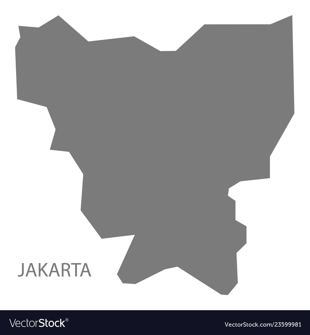Jakarta indonesia map grey