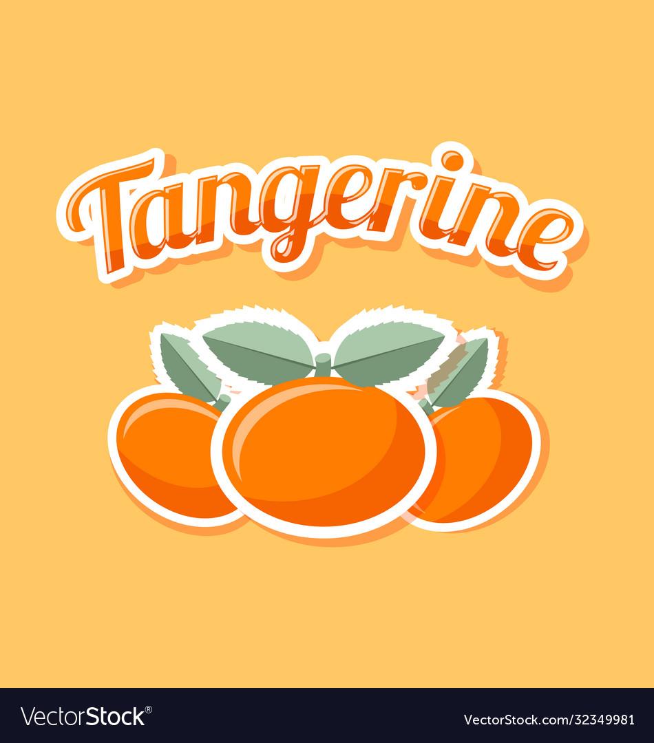 Retro tangerine on pale orange background
