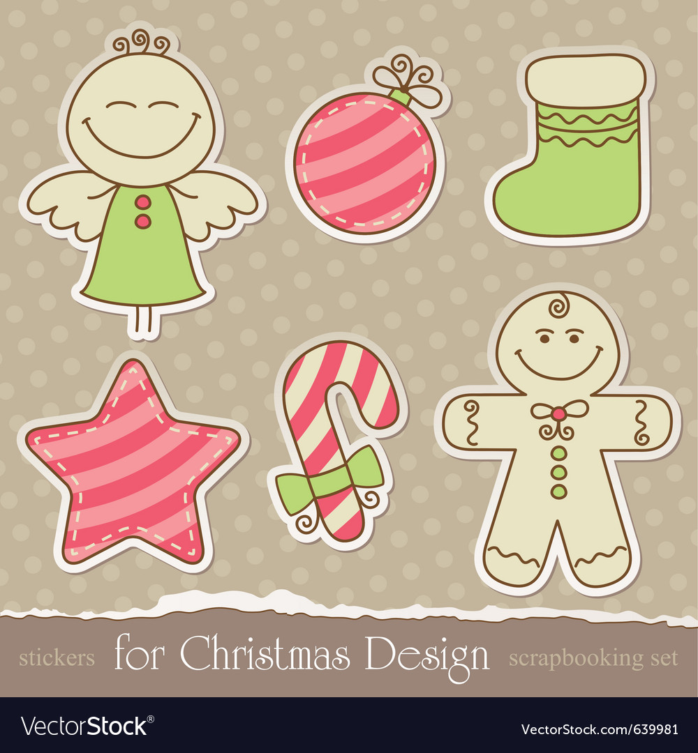 Vintage christmas scrapbook elements