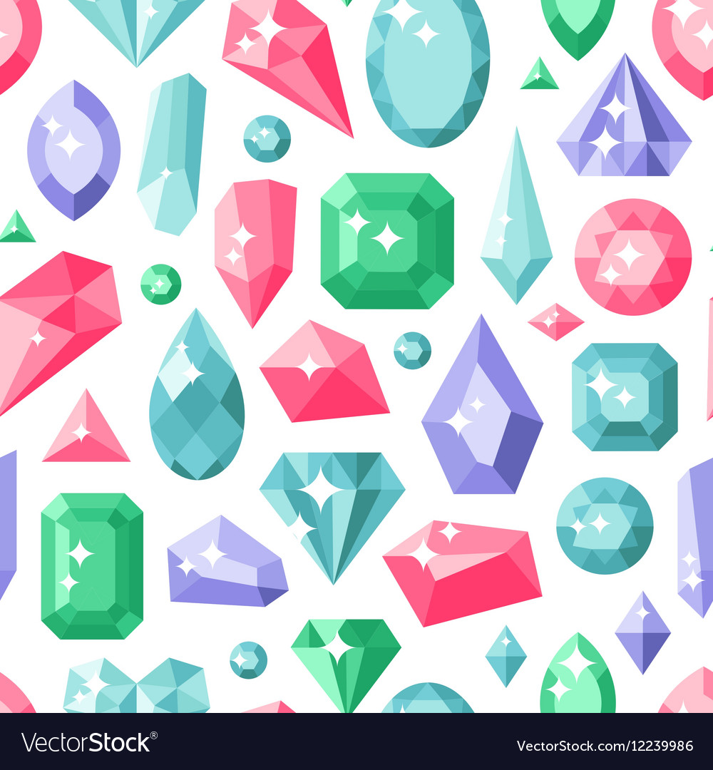 Jewelry stones seamless pattern expensive