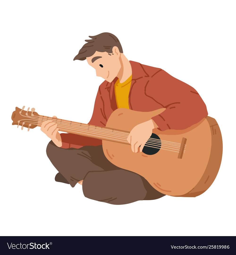 Man playing guitar musician musical performance