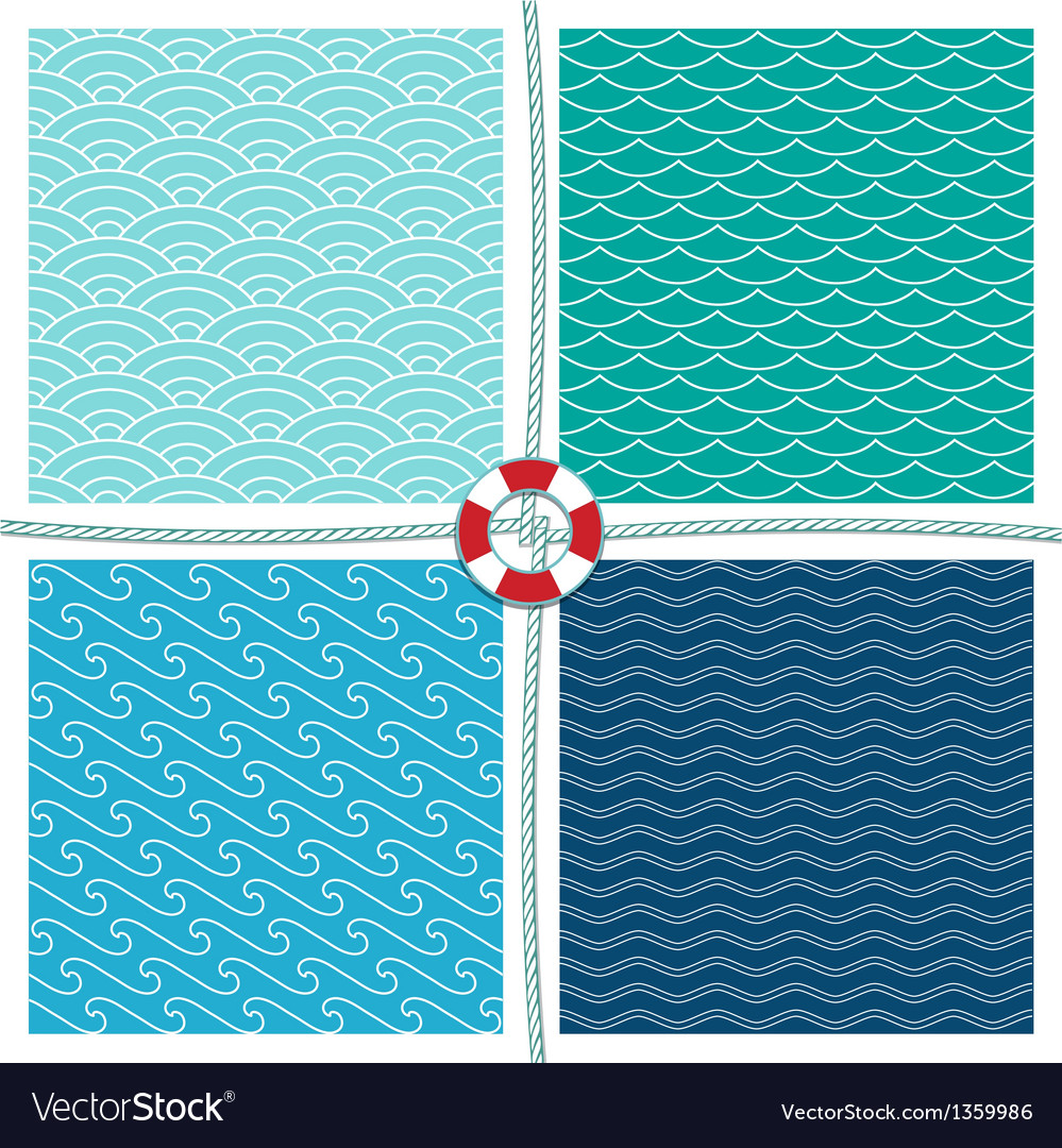 Sea pattern set background