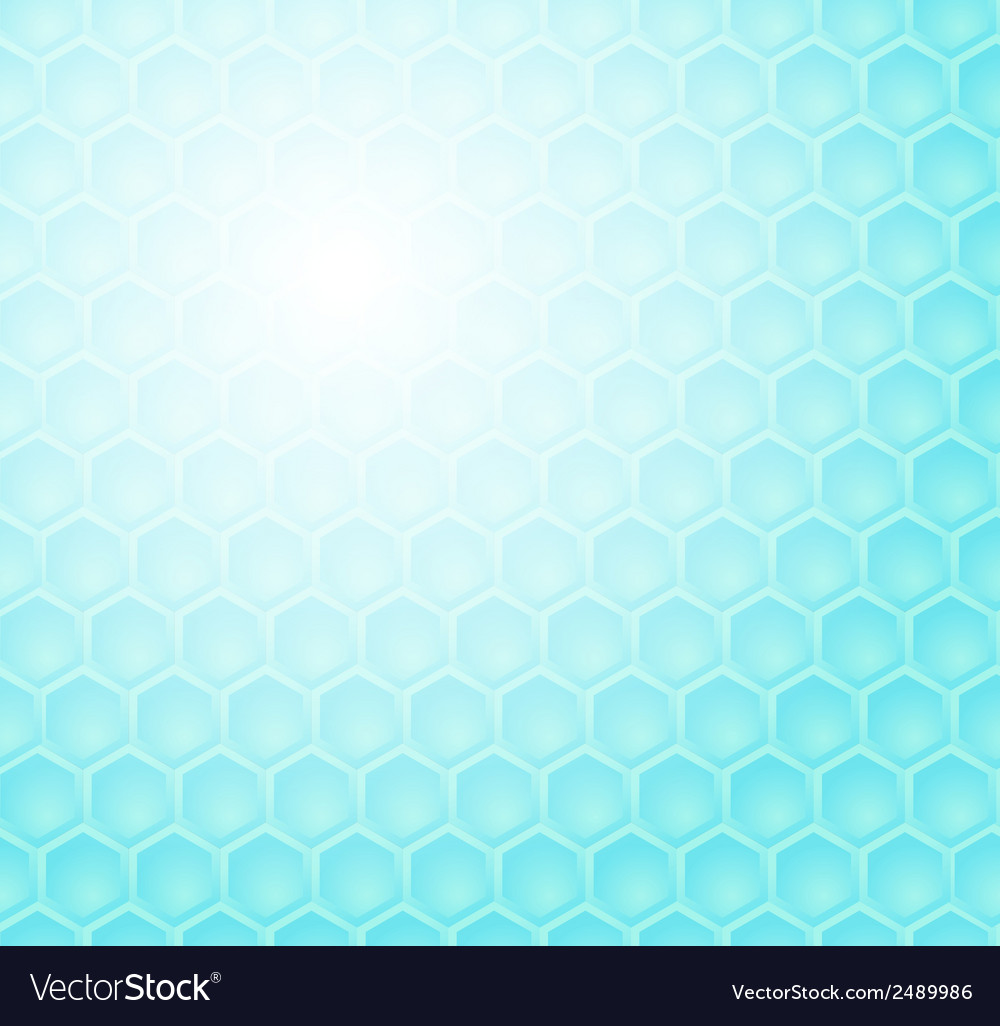 Seamless abstract blue hexagon pattern