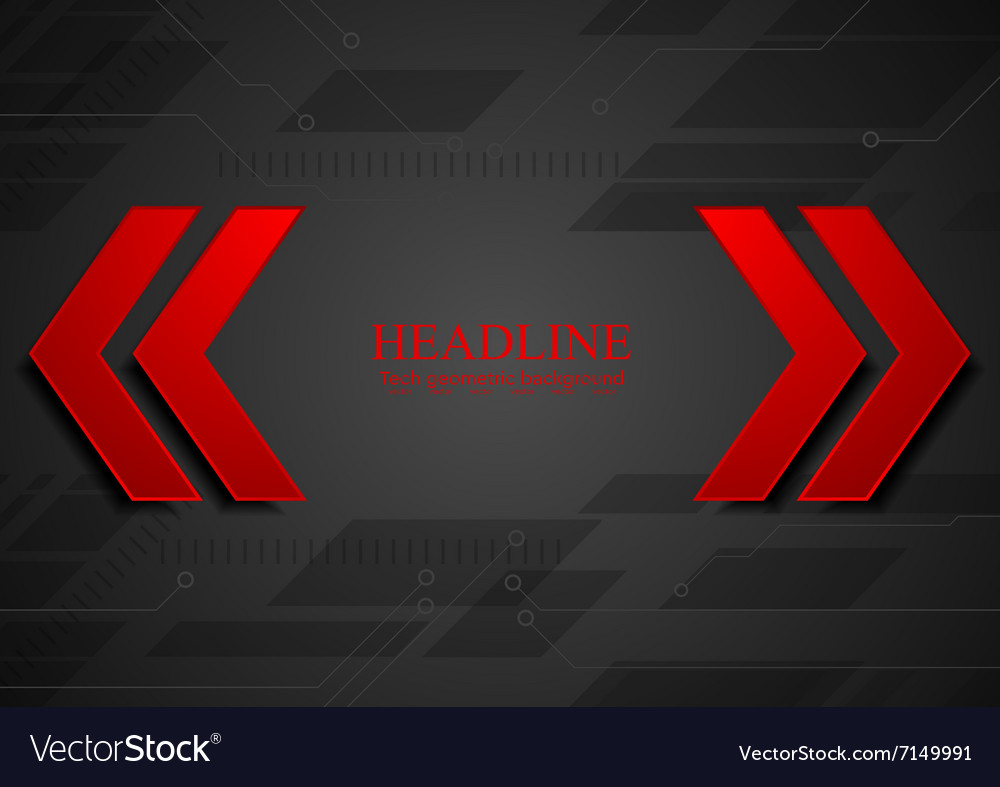 Abstract geometric corporate background with red