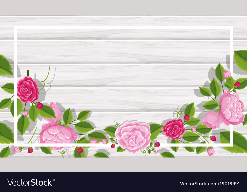 background template with pink roses royalty free vector