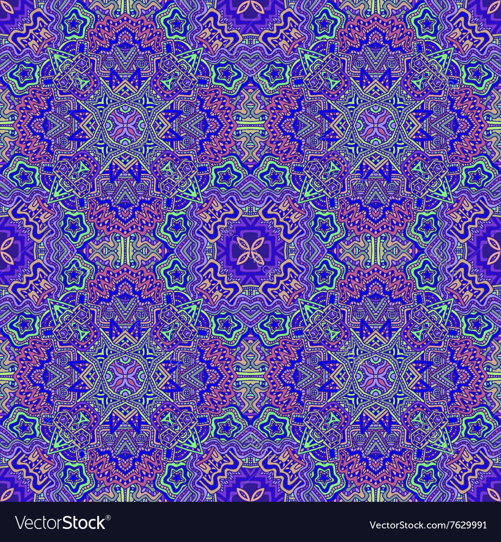 Colorful hand drawn seamless pattern