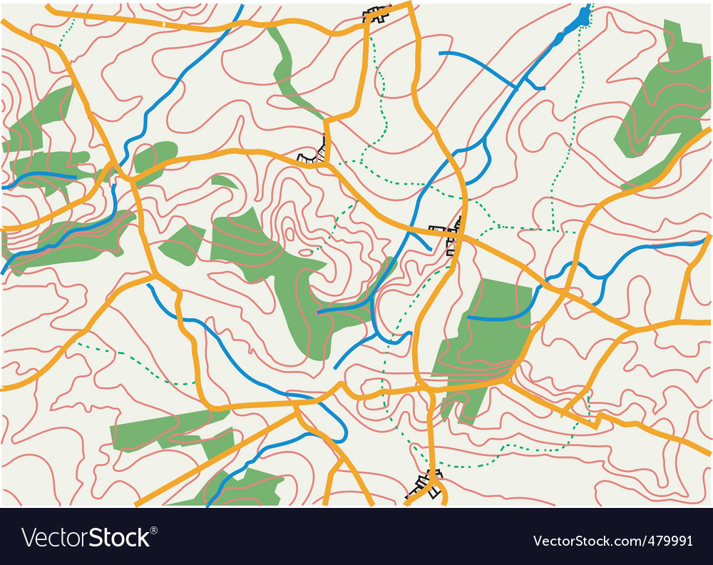 Countryside map vector image