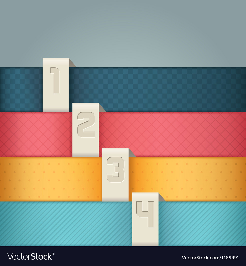 Design template numbered banners vector image