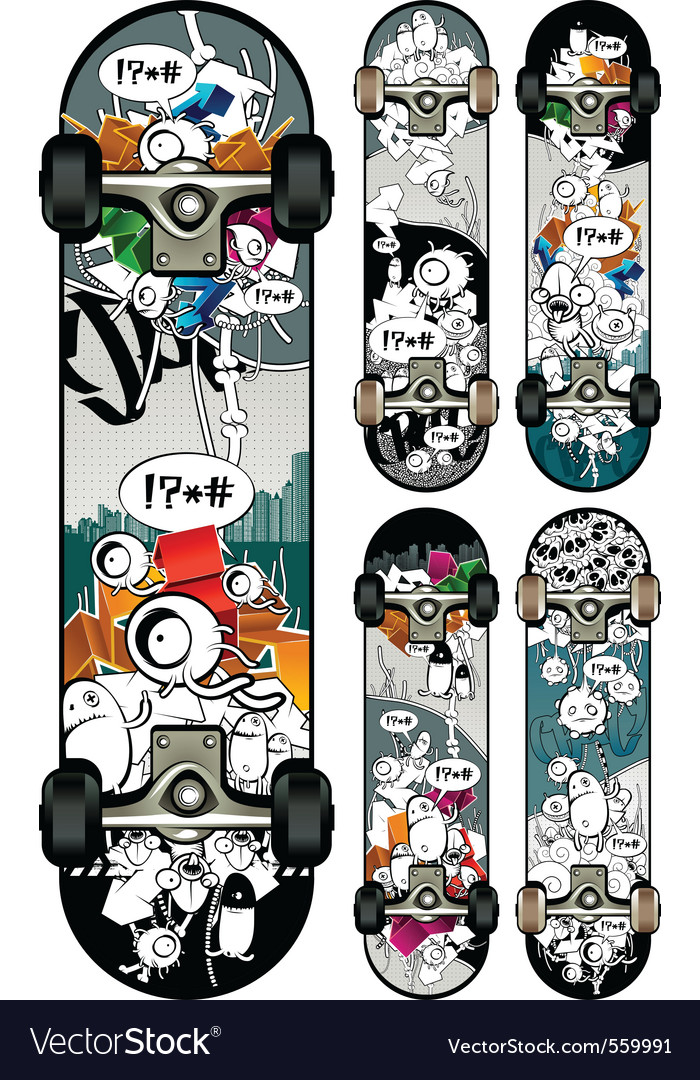 Graffiti skateboards