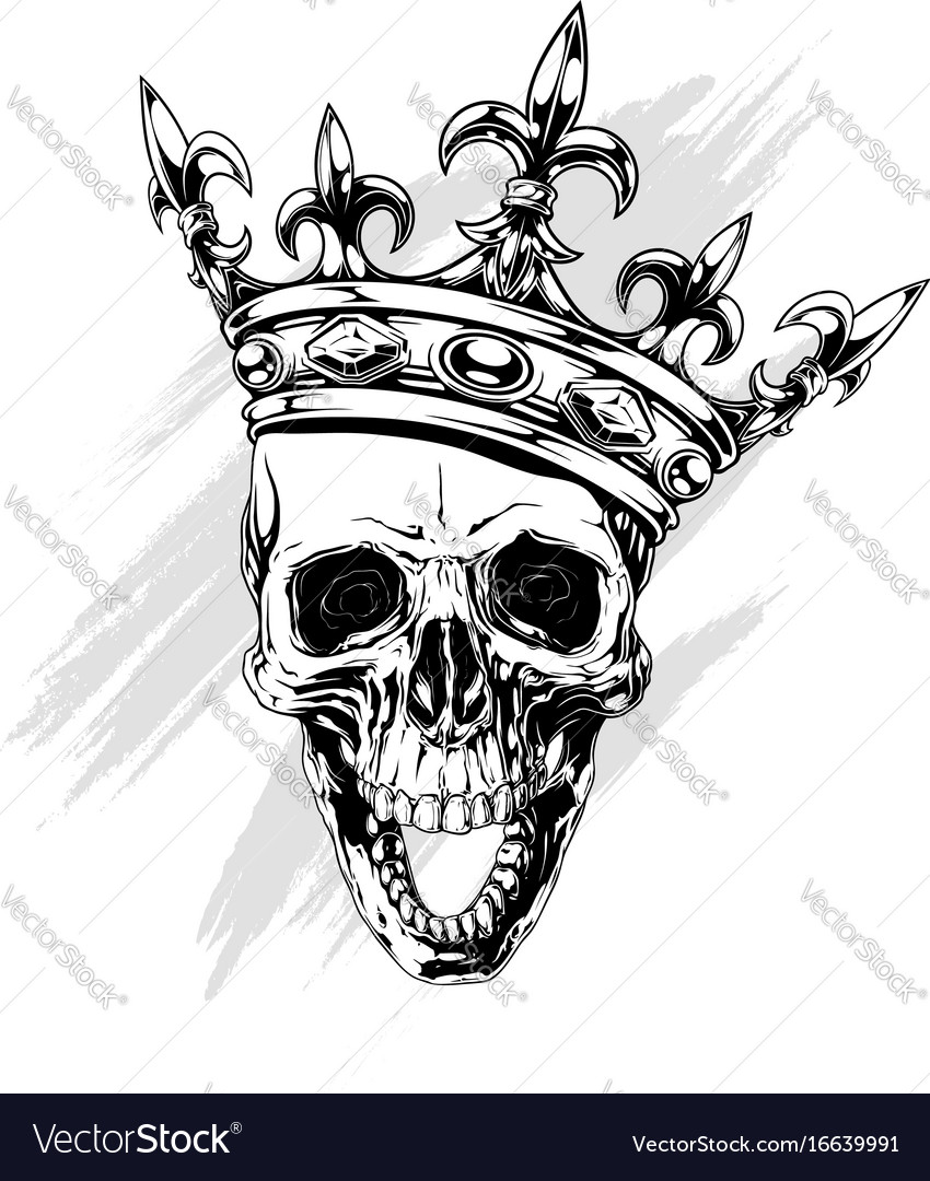 Graphic human skull with king crown royalty free vector graphic human skull with king crown vector image thecheapjerseys Choice Image