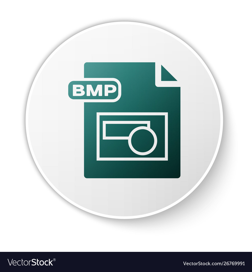 Green bmp file document download bmp button icon