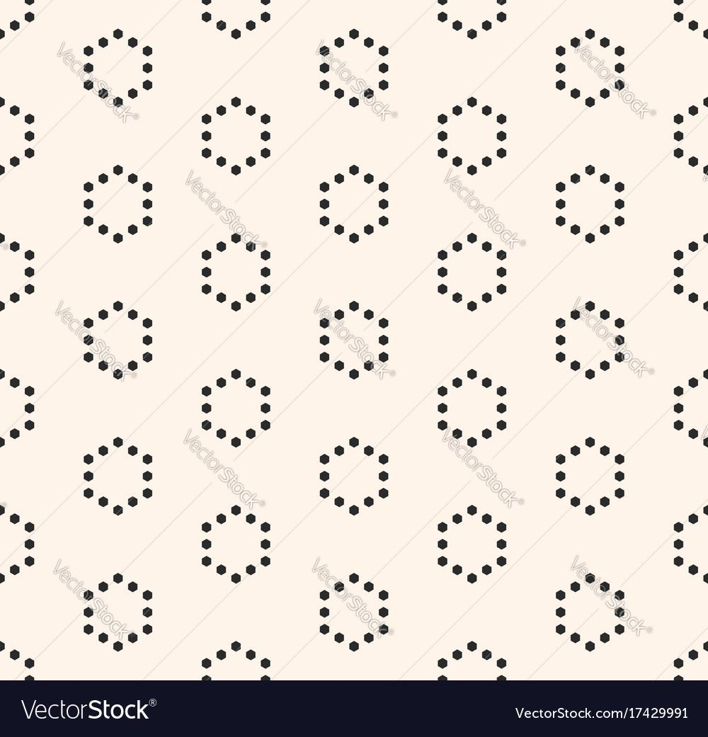 Minimalist seamless pattern hexagonal grid