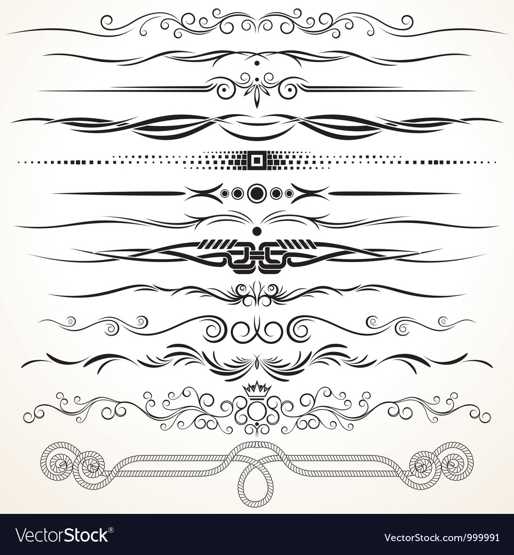 ornate vintage borders and rule lines royalty free vector