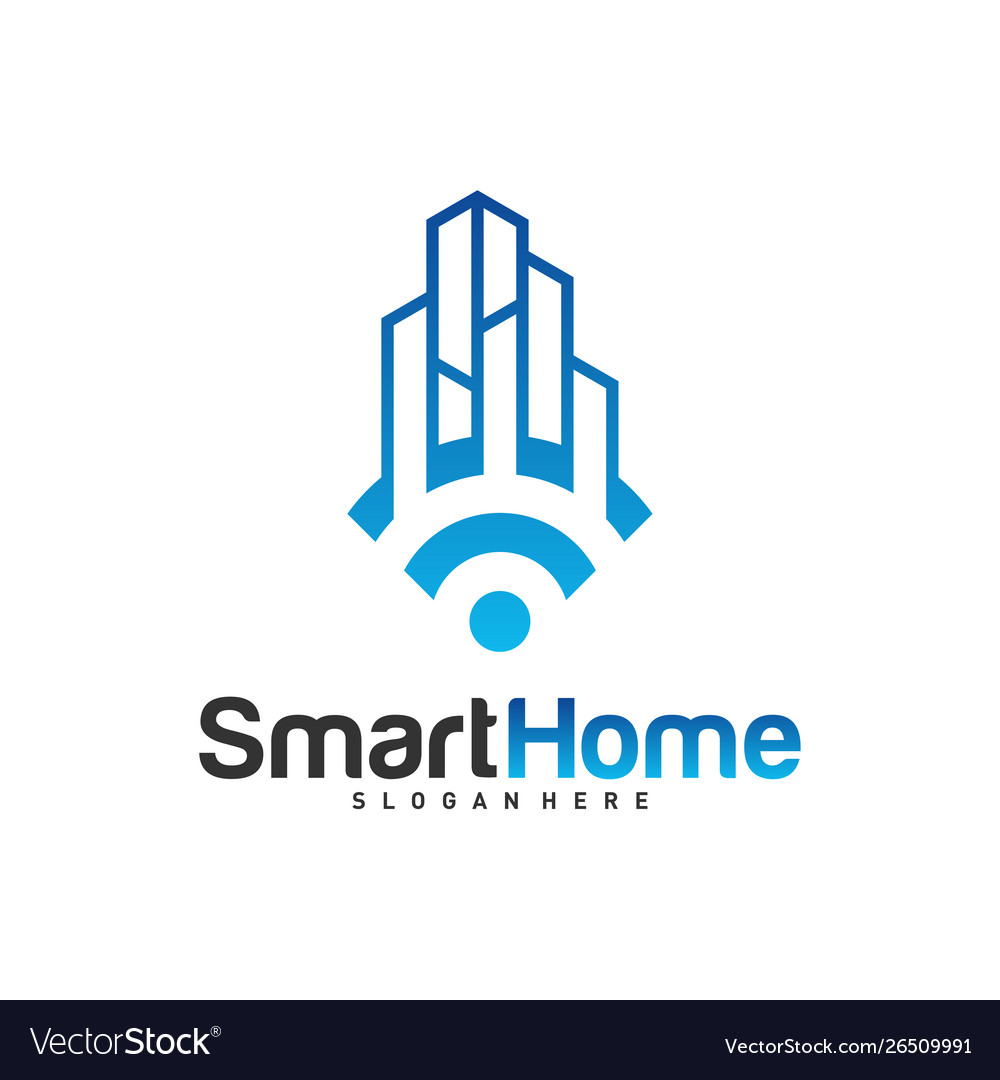 Smart city tech logo city net logo concept wifi