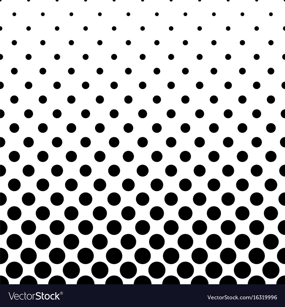abstract black and white dot pattern background vector image