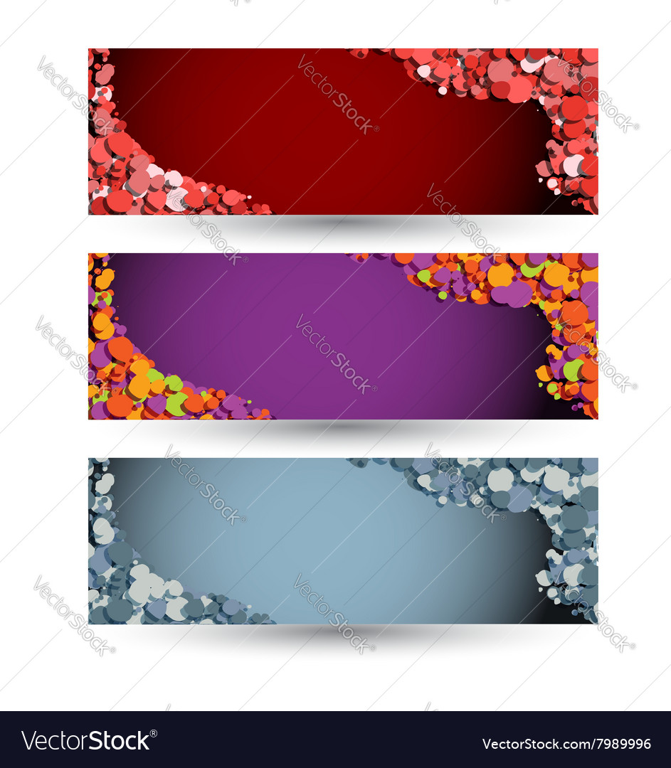 Colored horizontal banners