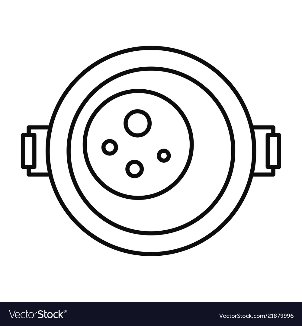 Food cooking pan icon outline style
