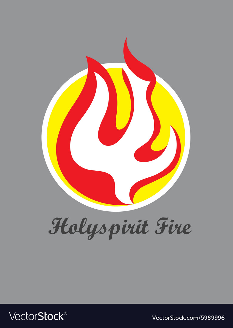 Holy spirit Fire Logo vector image