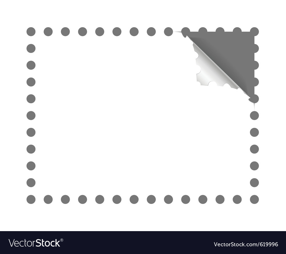 Postage stamp perforation vector image