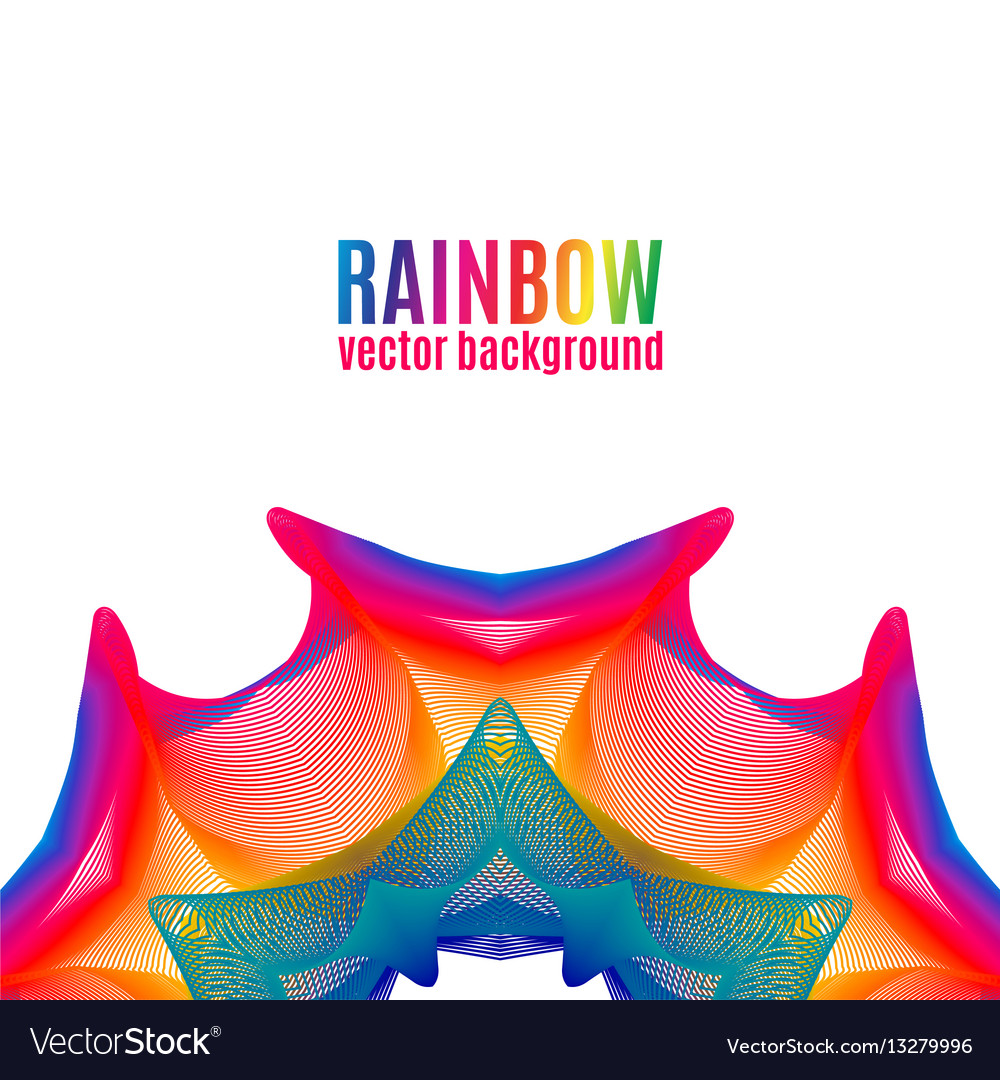 Rainbow star background vector image