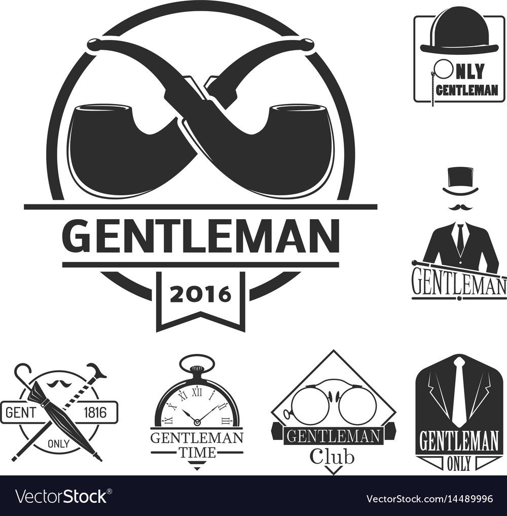 Vintage style design hipster gentleman