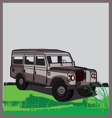 Land Rover Vector. Artist: Robot; File type: Vector EPS; Contains CS file: