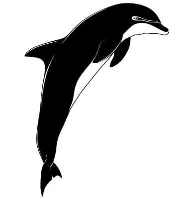Dolphin Tattoo Vector. Artist: flanker-d; File type: Vector EPS