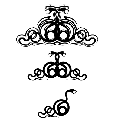 Snake Tattoo Vector. Artist: Seamartini; File type: Vector EPS