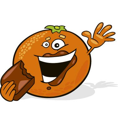 cartoon orange