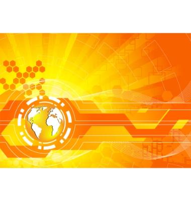 Orange Background Vector. Bright Orange Background