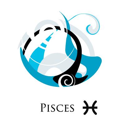 Pisces Zodiac Sign. Star Sign Zodiac Pisces Vector