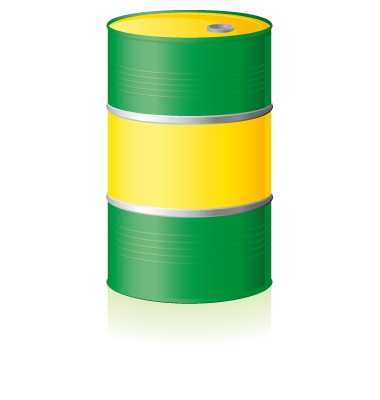 Oil Barrel Isolated Vector