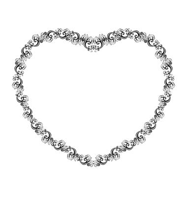 heart clip art border. clip art heart borders. clip