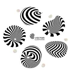 3D design elements or emblems vector image