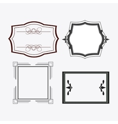 Frame design Ornament icon Flat vector image
